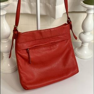 Kate Spade Tomato Red Leather Crossbody